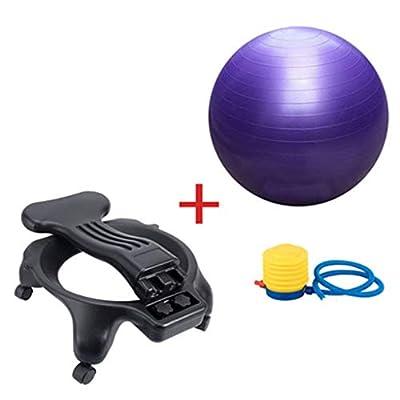 Blöcke Yoga-Ballstuhl Mobiler Yoga-Fitnessmassagestuhl Office-Fitnessballstuhl Kann 300 kg Tragen