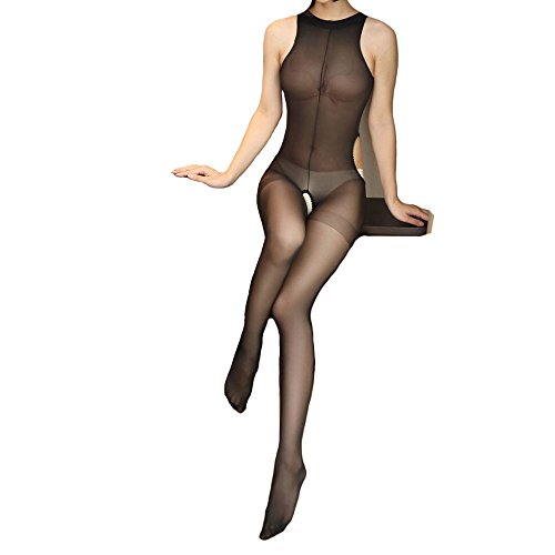 Elsayx Frauen Nylon Körper Strumpfhosen Nachtwäsche (Nylon-strumpfhosen)