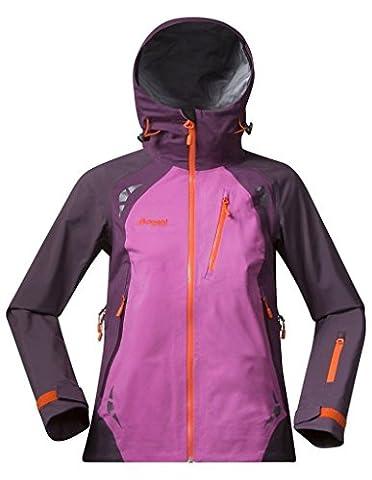 Bergans Isogaisa Insulated Damen Jacke, Farbe PinkRose/Dk Plum/Koi Orange, Größe