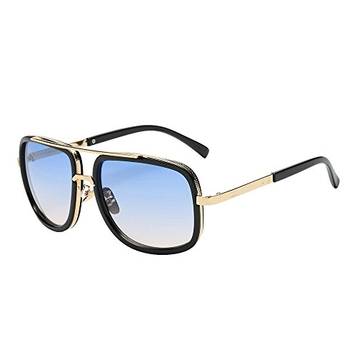 YWLINK Mode Klassisch Damen Polarisierte Sonnenbrille Strand Urlaub Retro Multicolor Mode Farbverlauf Brille