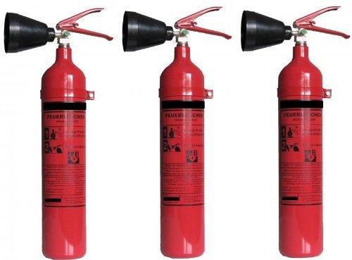 Preisvergleich Produktbild CO2 Feuerlöscher, 2kg - Dreierpack