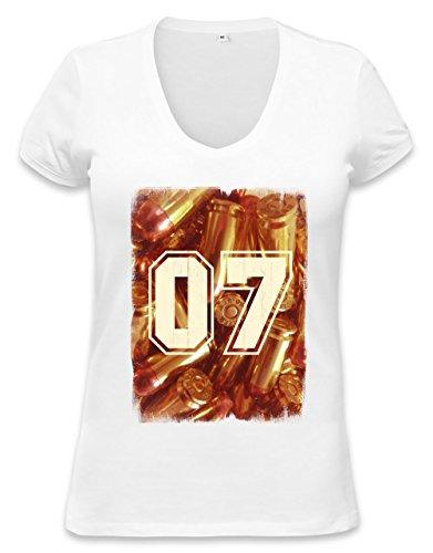 Swaggy golden agent 07 Womens V-neck T-shirt XX-Large (07 Womens T-shirt)