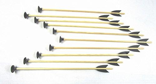 10 Stück Holzpfeil mit Saugnapf 50 cm für Pfeil und Bogen bogenschießen kinder