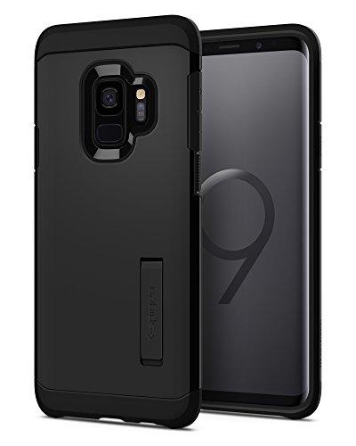 Spigen Tough Armor Samsung Galaxy S9 Hülle (592CS22846) Extrem Fallschutz Doppelte Schutzschicht Handyhülle Silikon TPU Innenteil Polykarbonat Außenteil Schutzhülle Case [Schwarz]