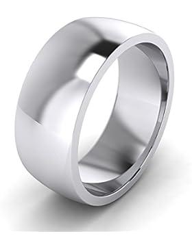 Unisex Sterling Silber 8mm Super Heavy Court Form poliert Hochzeit Ring