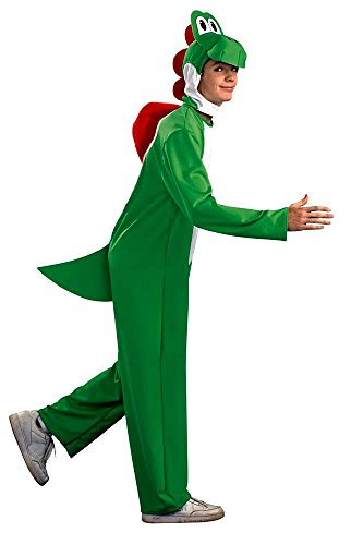 Adult Super Plumber Bros Yoshi Fancy Dress Costume