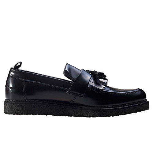 Fred Perry Mens George Cox Black Tassel Loafer Black