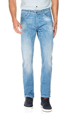 Salsa - Jeans Lima, washed Denim, Tapered Leg - Herren Blau