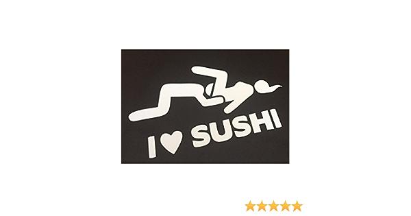 I Love Sushi Auto Aufkleber Tuning Sticker Bomb Dub Jdm Shocker Dapper Illest Auto