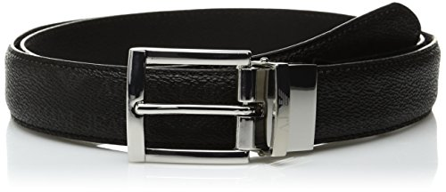 Armani Jeans Uomo Cintura reversibile in pelle Nero Unica Taglia