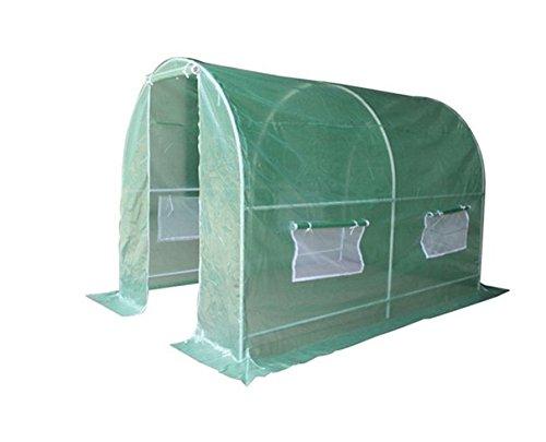 Reke Serre de Jardin Tunnel-Tube Acier 25mm galvanisé-Protection-Anti UV-3mx2mx2m-150g/m²-pour Plantes, légumes et Fleurs