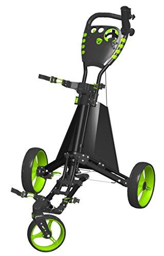 Spin ES Golf Produkte Easy Drive Golf Push Cart, schwarz/grün