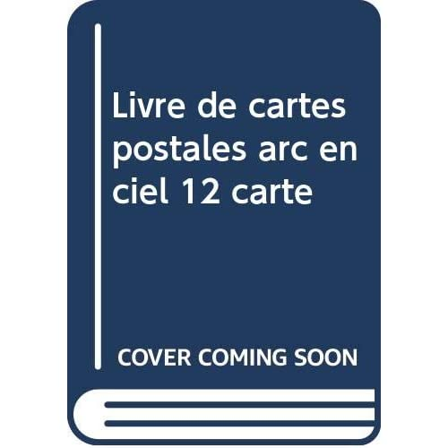 Livre de cartes postales arc en ciel 12 carte