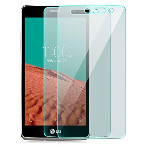 Saxonia [2 Stück Bildschirmschutz Folie kompatibel mit LG Bello 2 Bildschirmschutzfolie aus gehärtetem Glas Schutzglas Glasfolie Schutzfolie | HD Klar Transparent