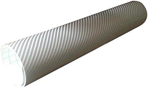Direct products pellicola adesiva auto moto fibra di carbonio 4d grigio in vinile 1520mm x 300mm