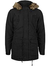"""Tokyo Laundry """"Portia"""" - Manteau à capuche fourrure homme - doublure matelassée"""
