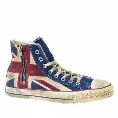 Converse ALL Star Scarpa Sneaker Donna Bandiera Inglese Vintage Art. 1C503 38 EU - 7,5 USA - 6,5 UK Bandiera Inglese