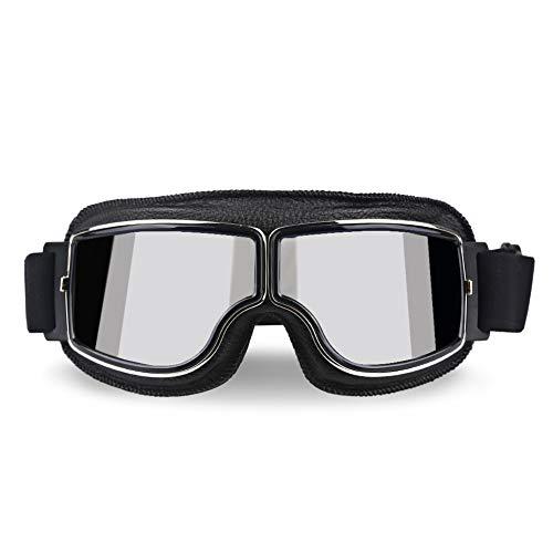 XYQY brille Universal Pilot Aviator Retro Vintage Motorradbrille Motorrad Roller Gläser Uv Schutz Für Fahrrad Motor SonnenbrilleModell 6