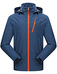 Zhhlinyuan Outdoor Hooded Quick-dry Outwear Fashion Mens Solid color Deportes Casual Jacket