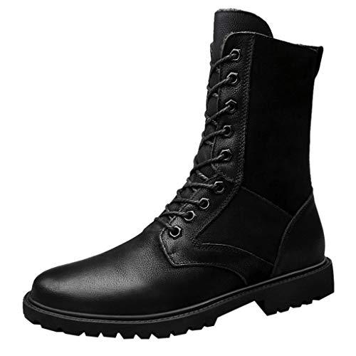 MDenker Herren Klassische Stiefel Vintage Schuhe Winter Plus Baumwolle Winter Chelsea Stiefel MäNner Einen Fuß Stiefel Hoch, Um Britischen Wind Zu Helfen, Fuß Herrenschuhe 39-48