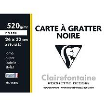 Clairefontaine 96800C Confezione Carta per il Grattage, 33.5 x 25 x 0.3 cm, Nero