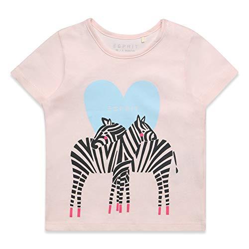 ESPRIT KIDS Baby-Mädchen SS T-Shirt, Rosa (Blush 310), Herstellergröße: 86
