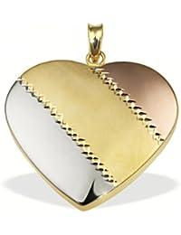 Goldmaid - Pr A4406TR - Pendentif Femme - Or tricolore 333/1000 (8 ct) 0.6 Gr - Coeur