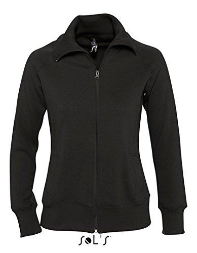 Veste Femme avec Zip Damen Sweatjacket Sweatshirt Black