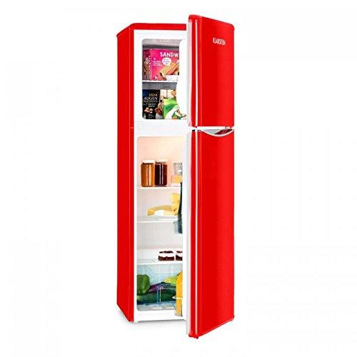 Klarstein Monroe XL Red • Nevera • Congelador • Frigorífico congelador combi...