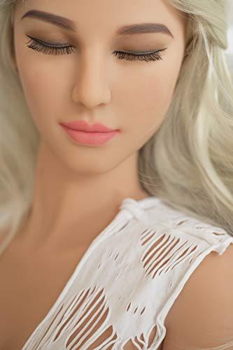 Racyme Sex Doll Lebensechte Liebespuppen Real Adult Toys Medizinische TPE Material Mit Realistischen 3 Port Für Männer Männlich (158cm 27#)