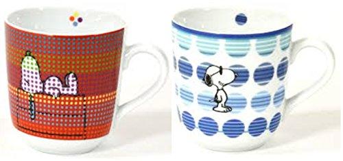 Tasse Kaffeetasse 2er SET Snoopy im hochwertigen Geschenkkarton Kaffeebecher Geschenkidee 'Tasse...