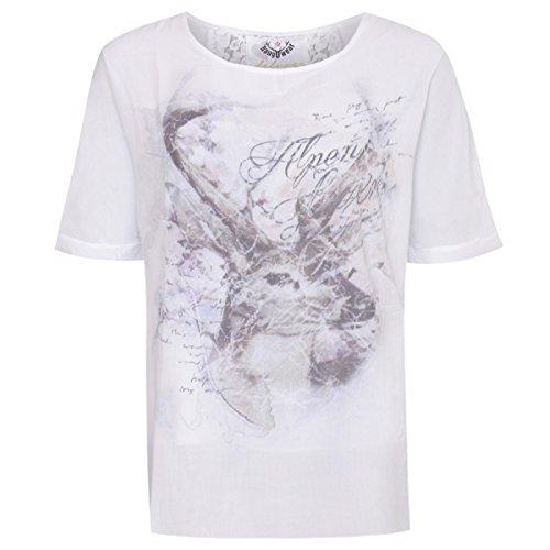 Trachtenshirt Berit in Weiß von Hangowear, Größe:XL, Farbe:Weiß