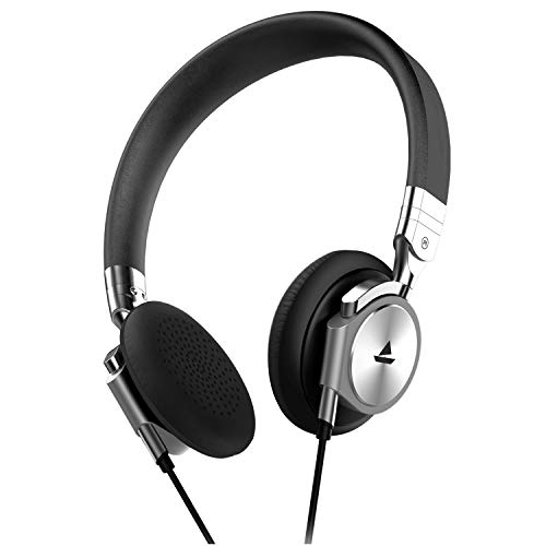 boAt Bassheads 950 Wired Headphones with Dual Tone Finish, HD Sound and in-line Microphone (Silver Surfer)