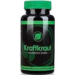 KRAFTKRAUT | TESTOSTERON - BOOSTER | Natürlich Stress und Cortisol senken | Muskelaufbau | Libido | Pflanzlich | Regeneration | 90 Kapseln hochdosiert | 100% Geld-zurück-Garantie | Made in Germany