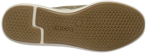 Geox D OPHIRA B, Sneakers basses femme Or - Gold (LT GOLD/LT TAUPEC2LH6)