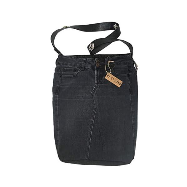 Recycled Denim Bag, Everyday bag, Denim Bag, Upcycled Denim, Black Jeans, Jeans Bag, Denim handbag, Denim Bags Handmade, Casual Shoulder Bag - handmade-bags