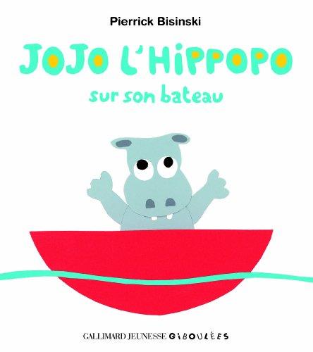 Jojo l'hippopo sur son bateau