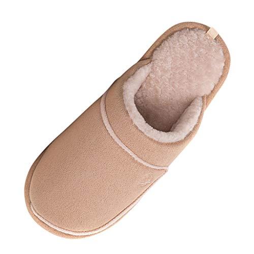 HDUFGJ Herren Winter Baumwolle Wasserdicht Pantoffeln Plüsch Wärme Home Hausschuhe Slippers rutschfeste Slippers Supersoft Clogs & Pantoletten Pumps Sandalen & Slides42 EU(Kaffee)