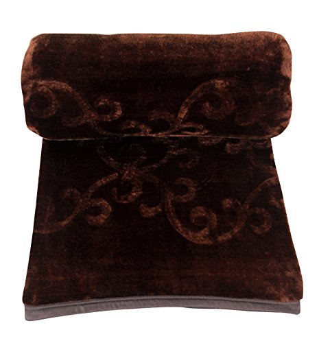 Pasricha Handlooms Double Coffee Brown Blanket, Extra Plush, Warm and Thick
