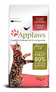 Applaws Dry Cat Food Chicken and Salmon, 2kg