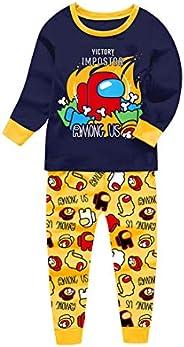 Among Us Pijamas Niños You Looking Sus Bro Impostor Personaje de Algodón Pijama Conjunto de Ropa de Dormir
