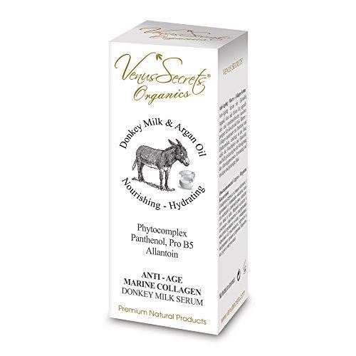Sérum anti-âge avec âne Lait, huile d'argan, Aloe Et Olives pour jeune et radieuse de look frais, pour le visage et le cou.