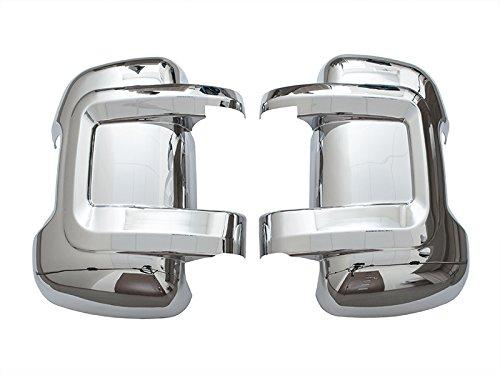 Voiture Miroir Boîtier gauche et droite, côté conducteur, côté passager, chromé