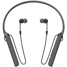 Sony WIC400 - Auriculares neckband inalámbricos (cable retráctil, Bluetooth, vibración llamadas, NFC, 20 horas de autonomía) negro
