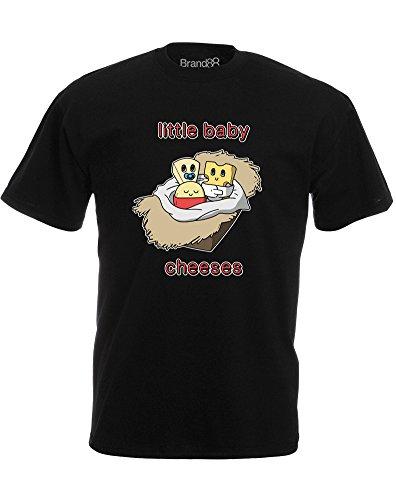 Brand88 - Little Baby Cheeses, Mann Gedruckt T-Shirt Schwarz/Transfer