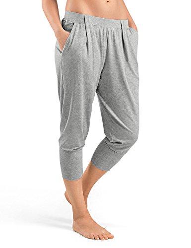 Hanro Damen Sporthose Yoga Grau (Grit Melange 1148)