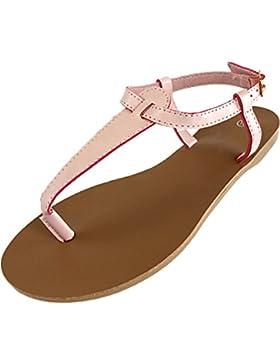 CAPRIUM Sandalen Zehentrenner Sandaletten Sommerschuhe, offen, flach, Damen 000M3516