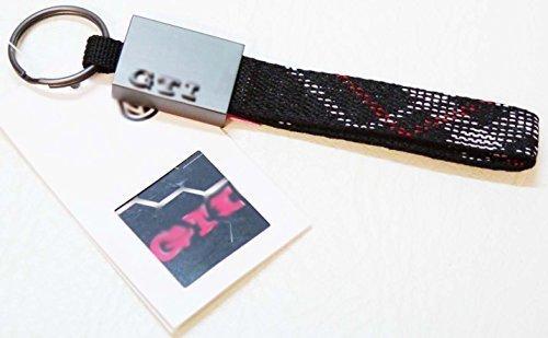 autodily–GTI Edition 30groß 160mm Schlüsselring Schlüssel Ring Kette Schlüsselanhänger Schlüsselband Golf Polo (Limited Edition-stoff)