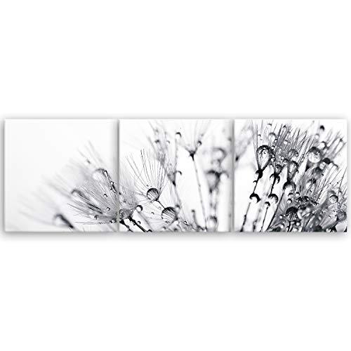 ge Bildet® hochwertiges Leinwandbild XXL Panorama - Another World - schwarz weiß - 150 x 50 cm mehrteilig (3 teilig)