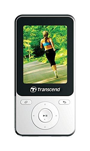 Transcend TS8GMP710W Baladeur/Lecteur MP3 8 Go avec Radio et Podomètre Blanc